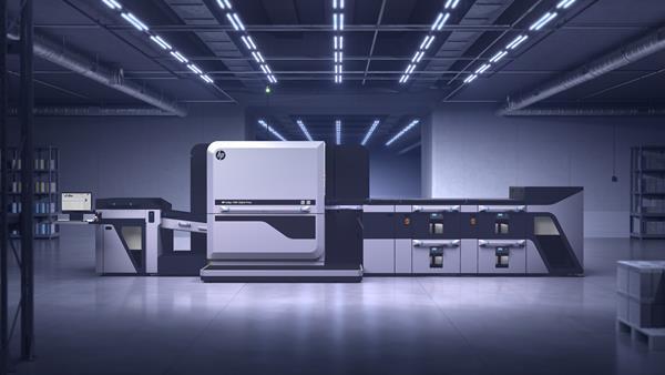 HP Indigo 100K Digital Press in printing environment