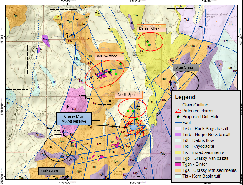 Gold In Oregon Map.Paramount Gold Commences Exploration Program At Its Grassy Mountain