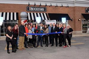 Roosters Men's Grooming Center Ribbon Cutting