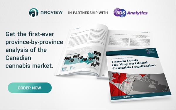 In our latest report, we bring you detailed provincial-level forecasts of the Canadian market and show the expected impact of the varying regulatory regimes being adopted by provinces.  The 40+ page report is available for $297 or as part of the Cannabis Intelligence Briefing Series subscription service from Arcview Market Research and BDS Analytics for $1,975.