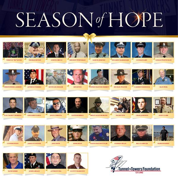 The Tunnel to Towers 2020 Season of Hope delivered 36 mortgage-free homes in the 36 day span between Thanksgiving and New Year's Eve.