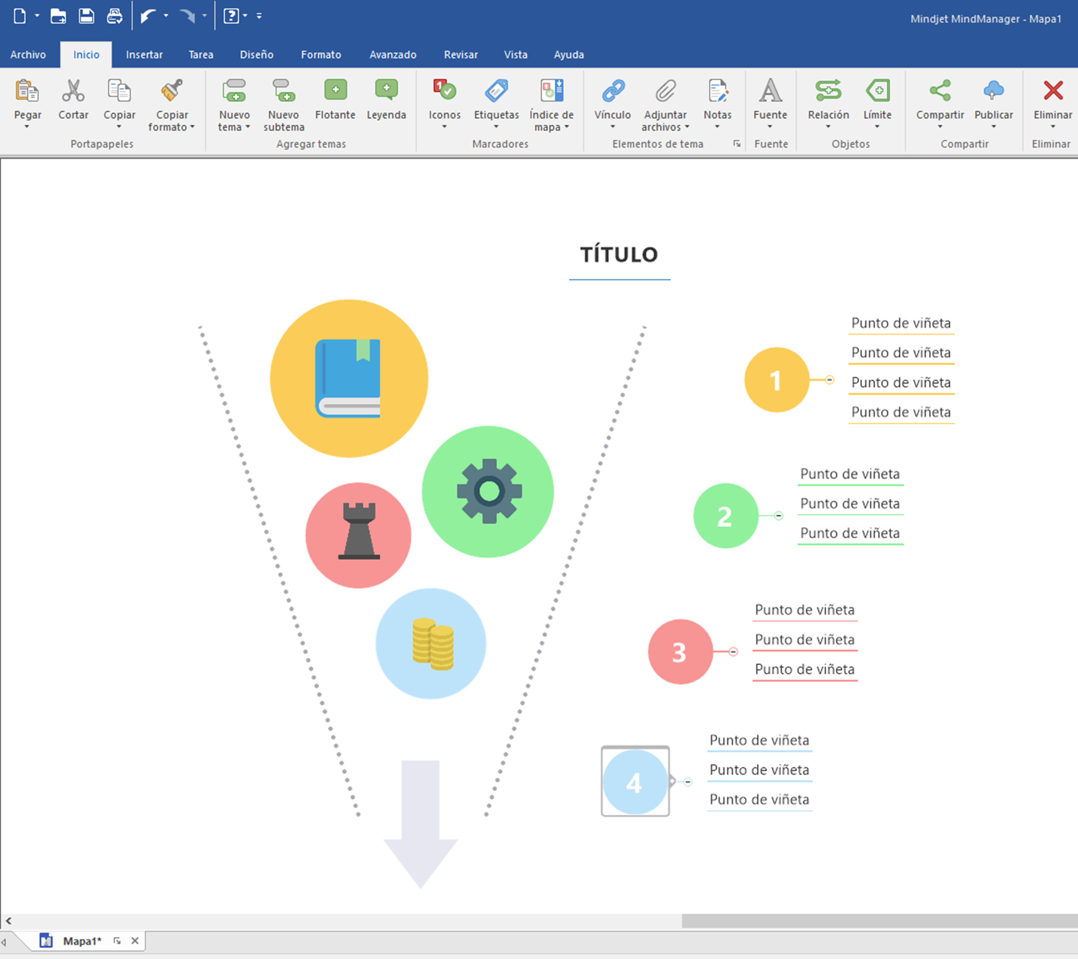 MindManager 2019 for Windows Spanish interface