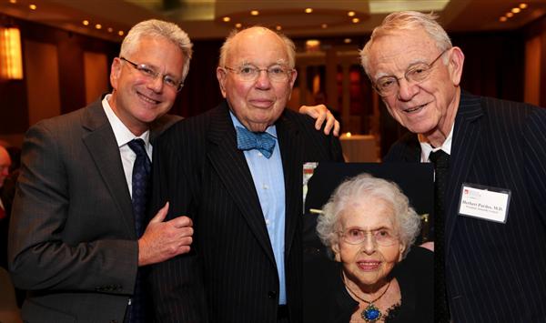 Dr. Jeffrey Borenstein, Stephen Lieber, Dr. Herbert Pardes, Constance Lieber