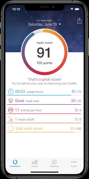 myAir, ResMed's PAP patient engagement app