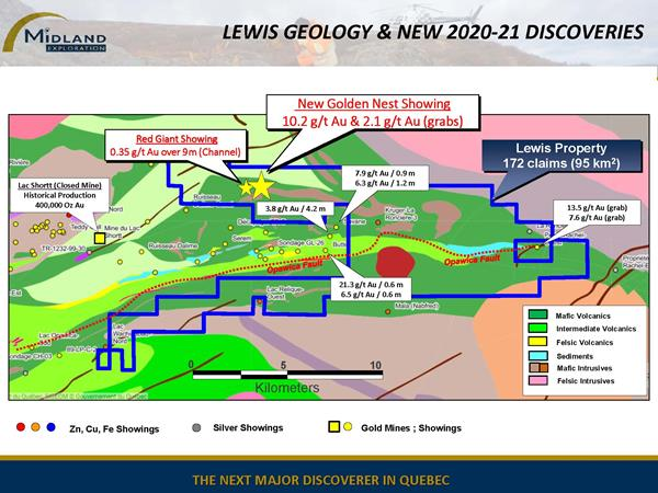 Figure 3 Lewis Geology and New 2020-21 Discoveries