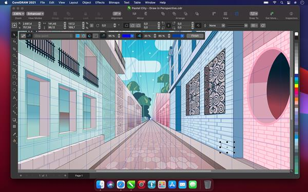 CorelDRAW Graphics Suite 2021 for Mac - Perspective Drawing 2