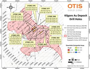 Kilgore Drill Hole Location Map