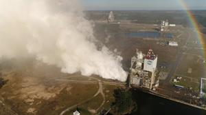 RS-25 Engine Test aerial view 2-22-17