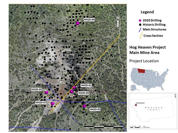 Figure 1. Plan Map of Drill Collar Locations