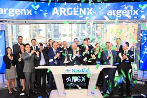 argenx (Nasdaq: ARGX) Rings The Nasdaq Stock Market Opening Bell in Celebration of Its IPO