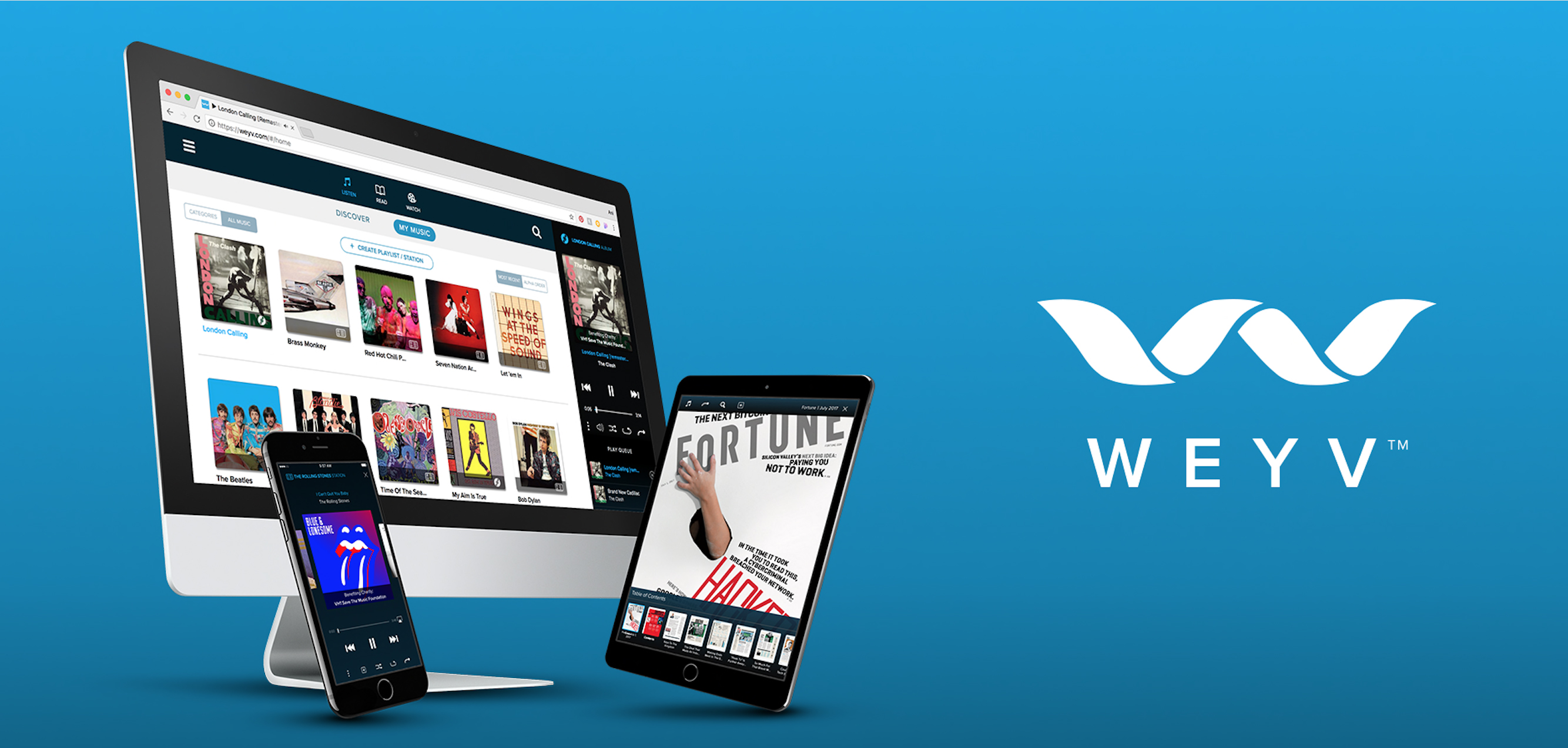 WEYV – Music, magazines and more all in one app
