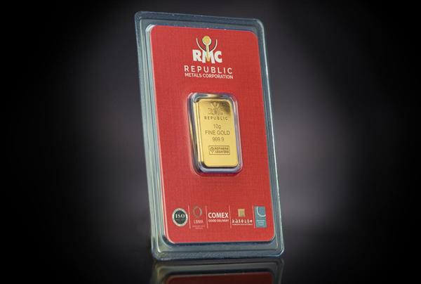 Republic Metals Corporation 10 Gram Gold Bar