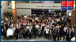 Nissan Canada Inc. once again certified as a Great Place to Work®