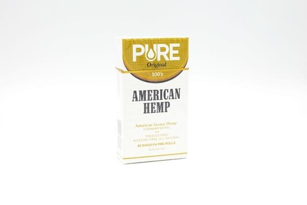 Pure- 100% American grown smokable Hemp Cigarette Sept. 4
