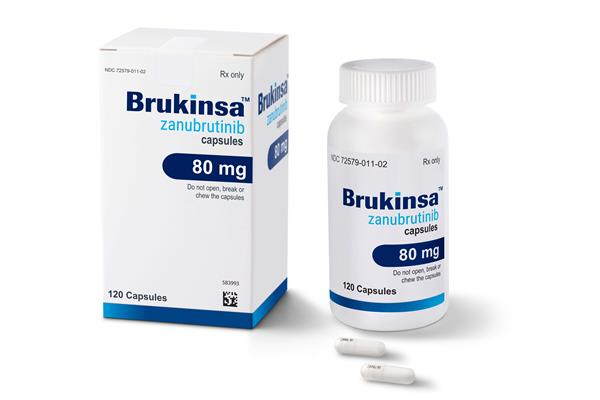 BRUKINSA(TM) packaging and tablets