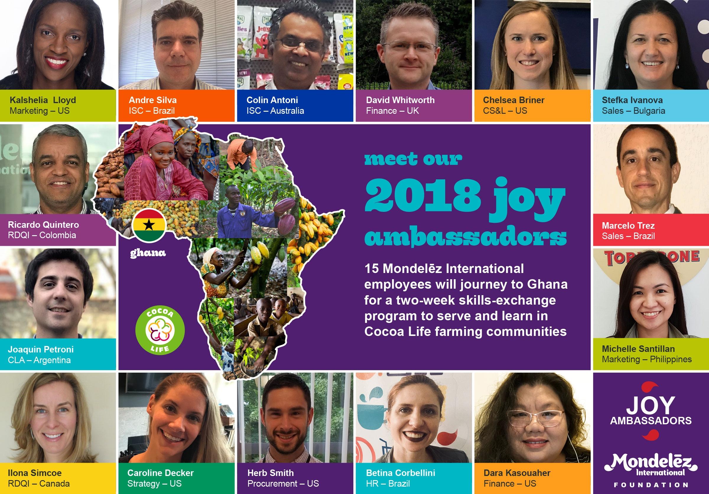 Meet MDLZ's 2018 Class of Joy Ambassadors!