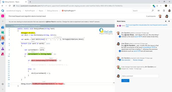 OzCode, Azure DevOps, DevOps, software coding, software bug, debugging