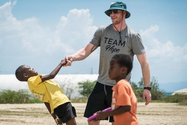 Wentz serving in Haiti in April 2018