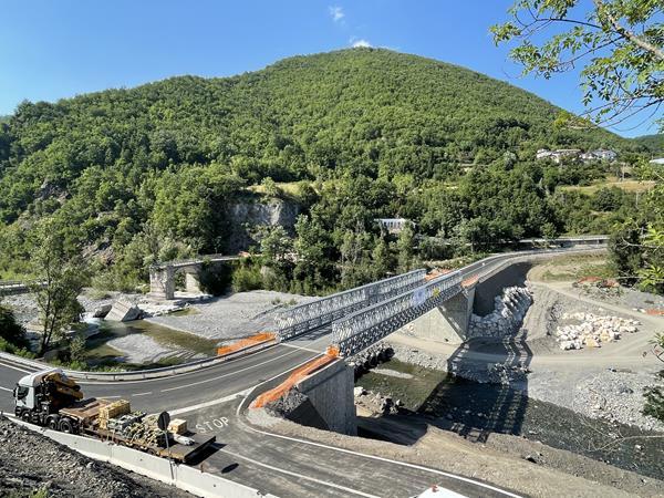 Acrow Bridge in Northern Italy