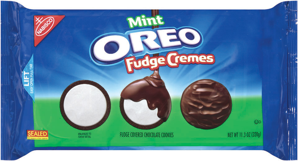 Oreo Fudge Cremes, Mint variety(11.3 oz. package)