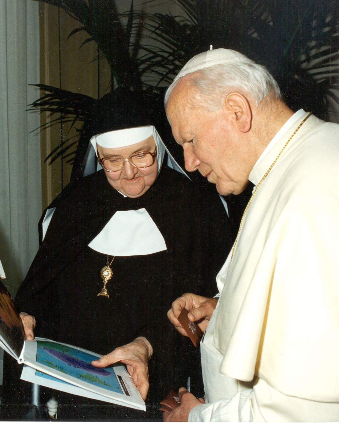 Mother Angelica with Pope