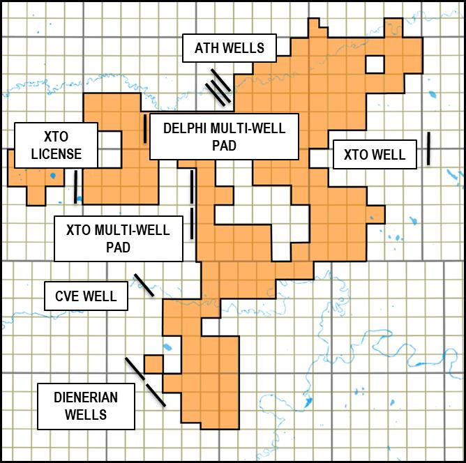 Delphi Energy Corp Adjacent Drilling Activity