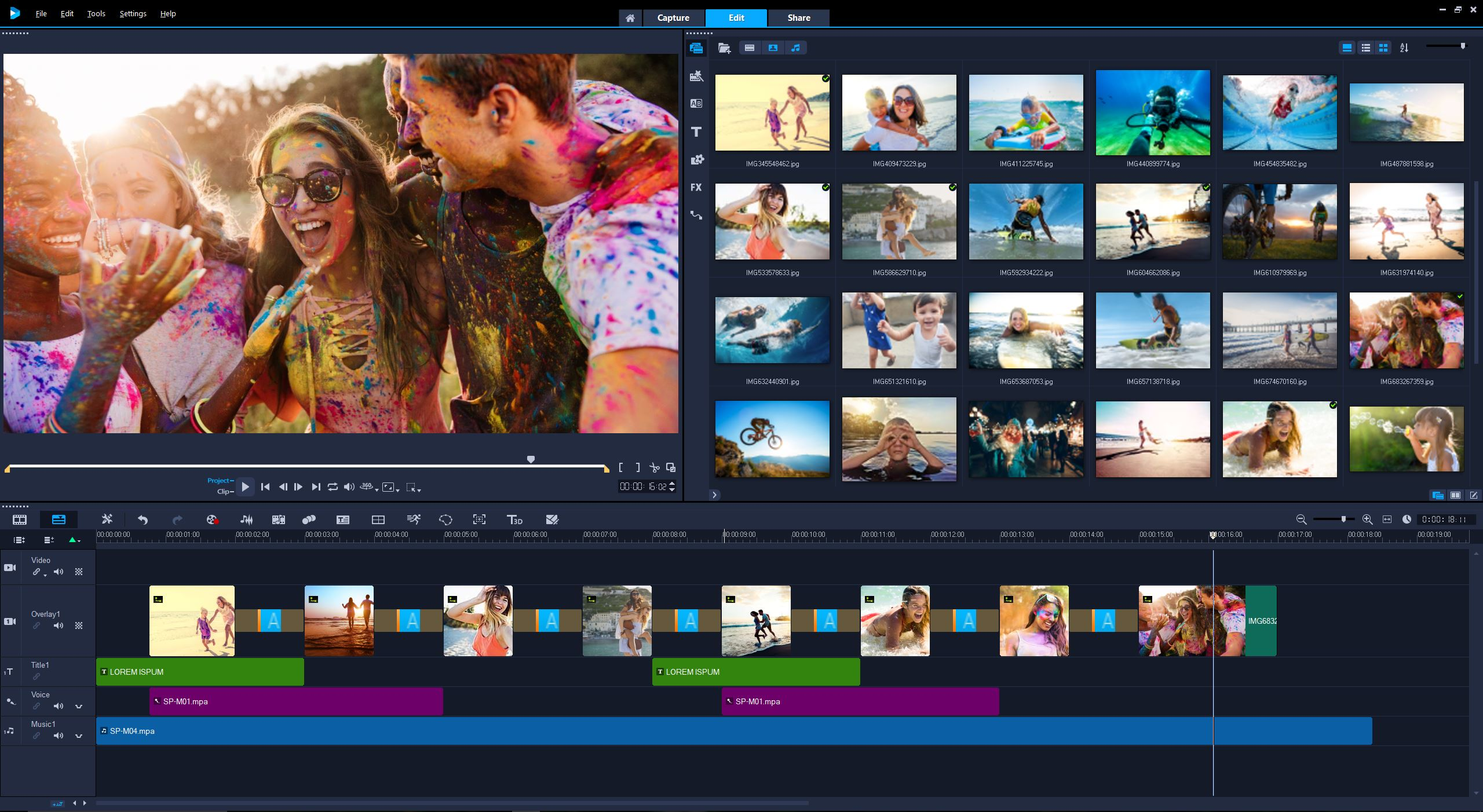 VideoStudio Ultimate 2018 User Interface