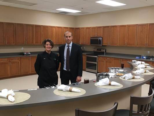 SweeGen's North American Food and Beverage Application Center in California. (L-R) S.V.P., Application Technology, Shari Mahon and V.P. of Sales and Marketing Luca Giannone