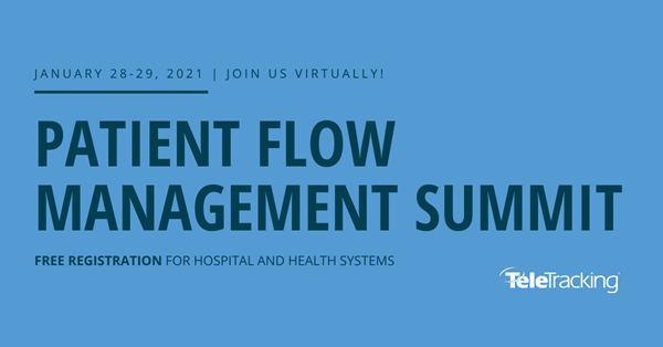 TeleTracking is pleased to partner with BRI Network for the 2021 virtual Patient Flow Management Summit January 28-29.  This 2-day event is free to providers and is accredited for 9 CME/CNE hours.   We look forward to connecting with you to discuss how TeleTracking can help your health system on its patient flow journey.
