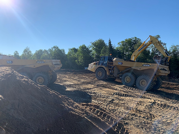 Construction of the access road is underway at the site.