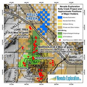 Nevada Exploration And Austin Gold Complete Earn In Agreement At Kelly Creek Gold Project Battle Mountain Mining District Nevada Tsx Venture Exchange Nge