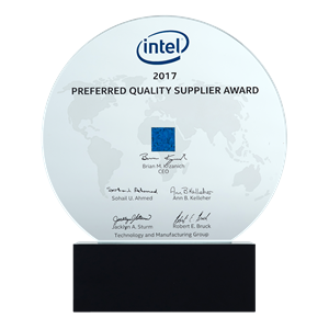 Intel 2017 Preferred Quality Supplier Award