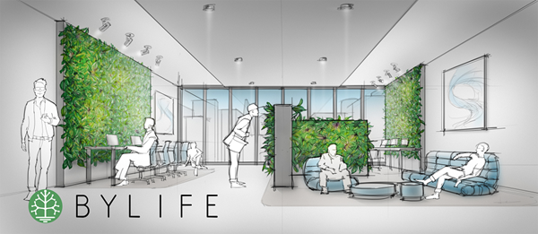 Bylife - Living walls in future office
