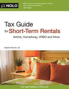 Nolo's Tax Guide For Short-Term Rentals