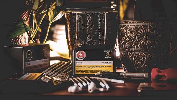 """Station House is a nod to St.Thomas, Ontario - """"the railway city"""" - where the pre-rolls are produced using state-of-the-art machines."""
