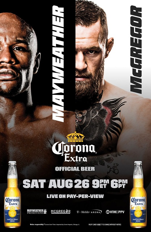 Corona Extra® Gets in the Ring as Official Beer Sponsor of Mayweather vs. McGregor Fight