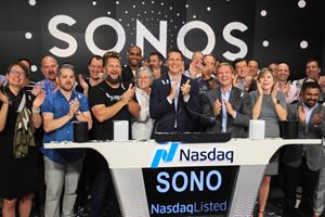 Sonos Inc. (Nasdaq: SONO) Rings The Nasdaq Stock Market Opening Bell in Celebration of Its IPO