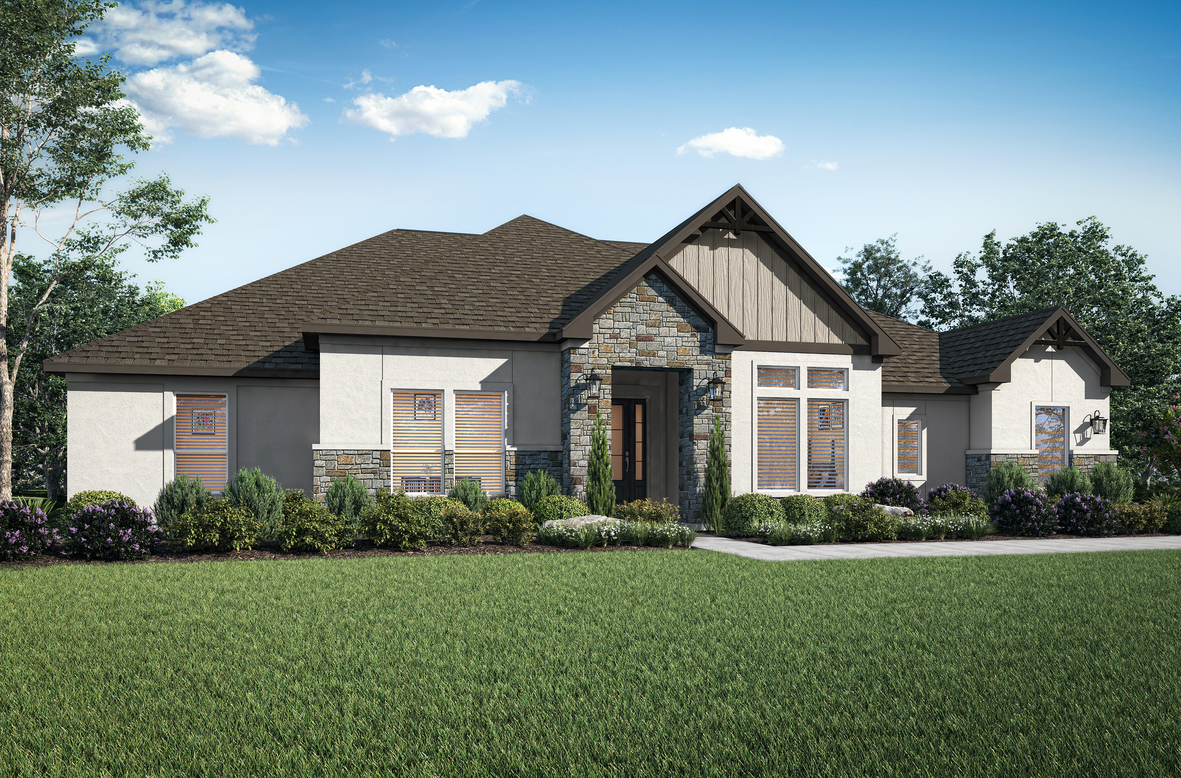The Stratton plan is available now at Spicewood Trails by Terrata Homes.