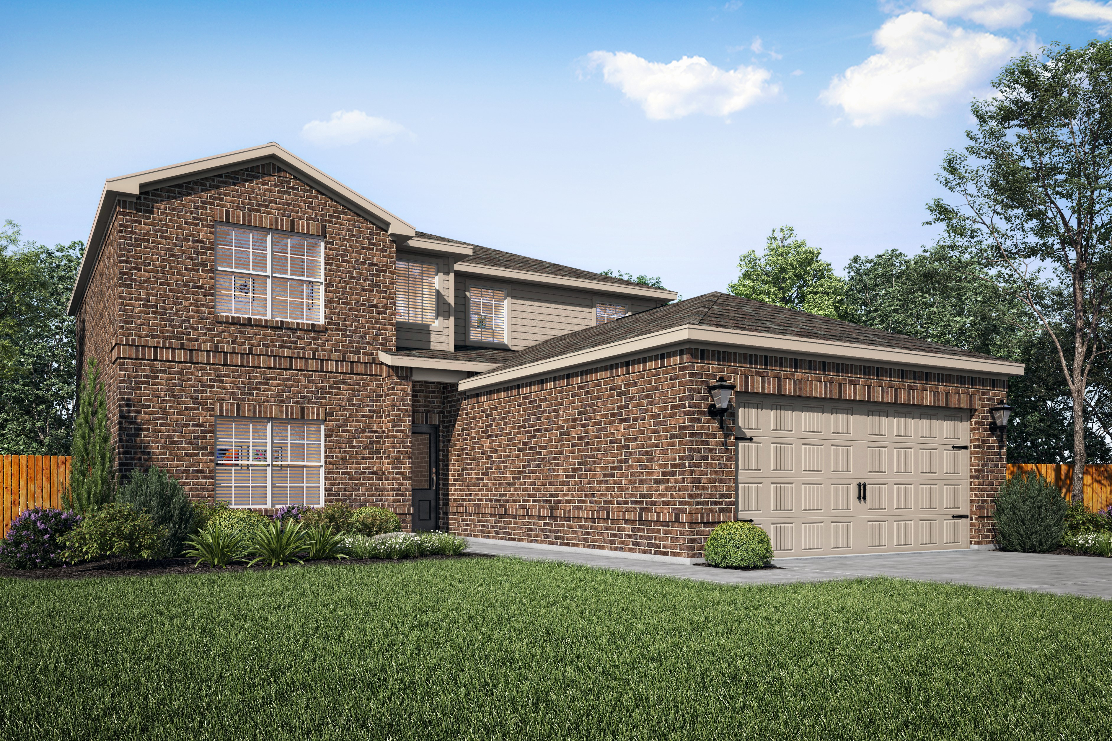 The Oakmont plan is a stunning two-story home at LGI Homes at Shadowbend in Anna, Texas.