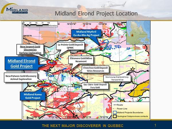 Figure 1 Elrond project location