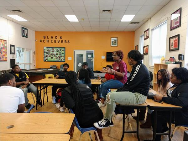 Black Achievers engage in discussions