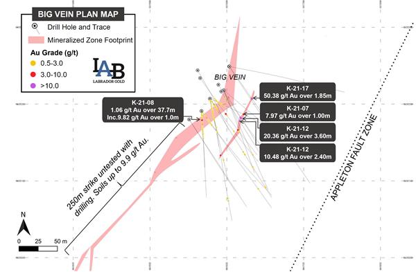 Figure 1. Big Vein Plan Map.