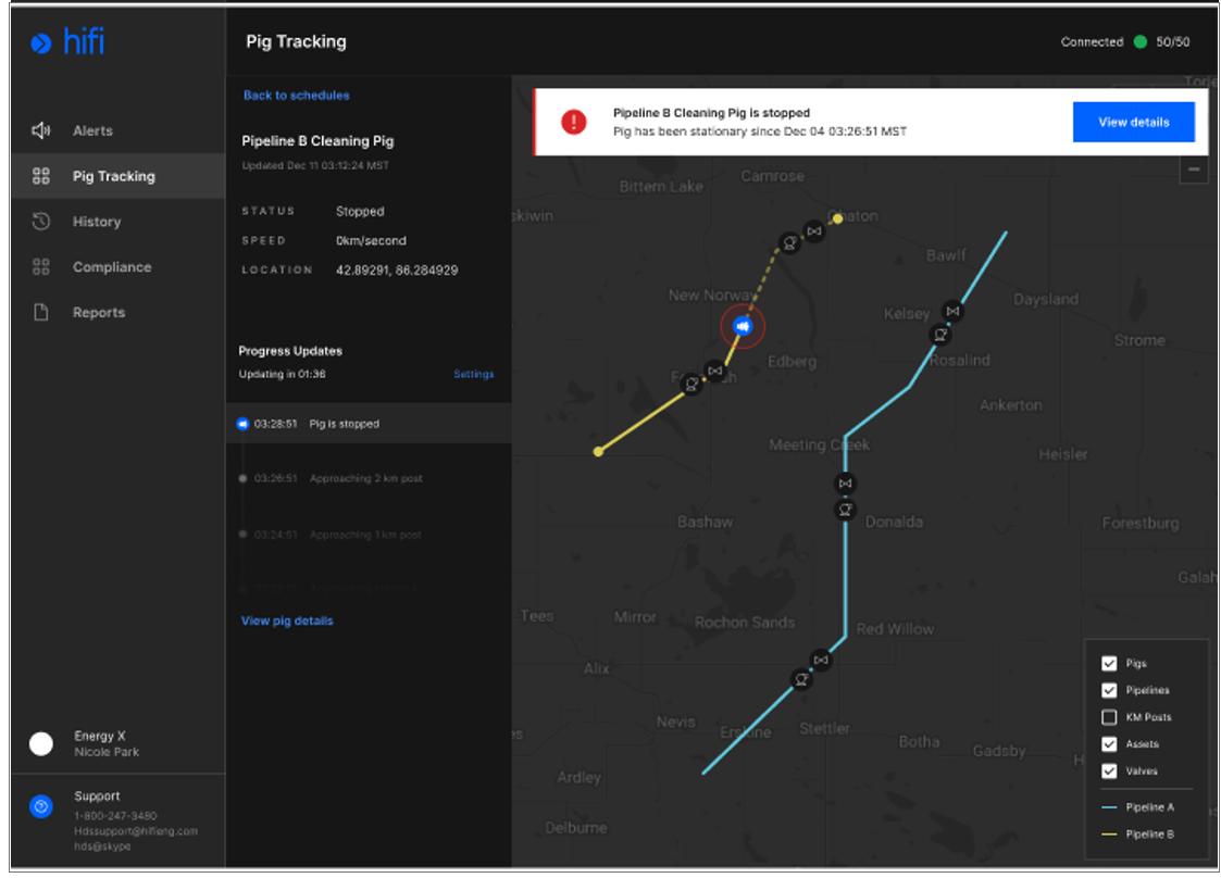 Hifi Announces New Pipeline Pig Management Application