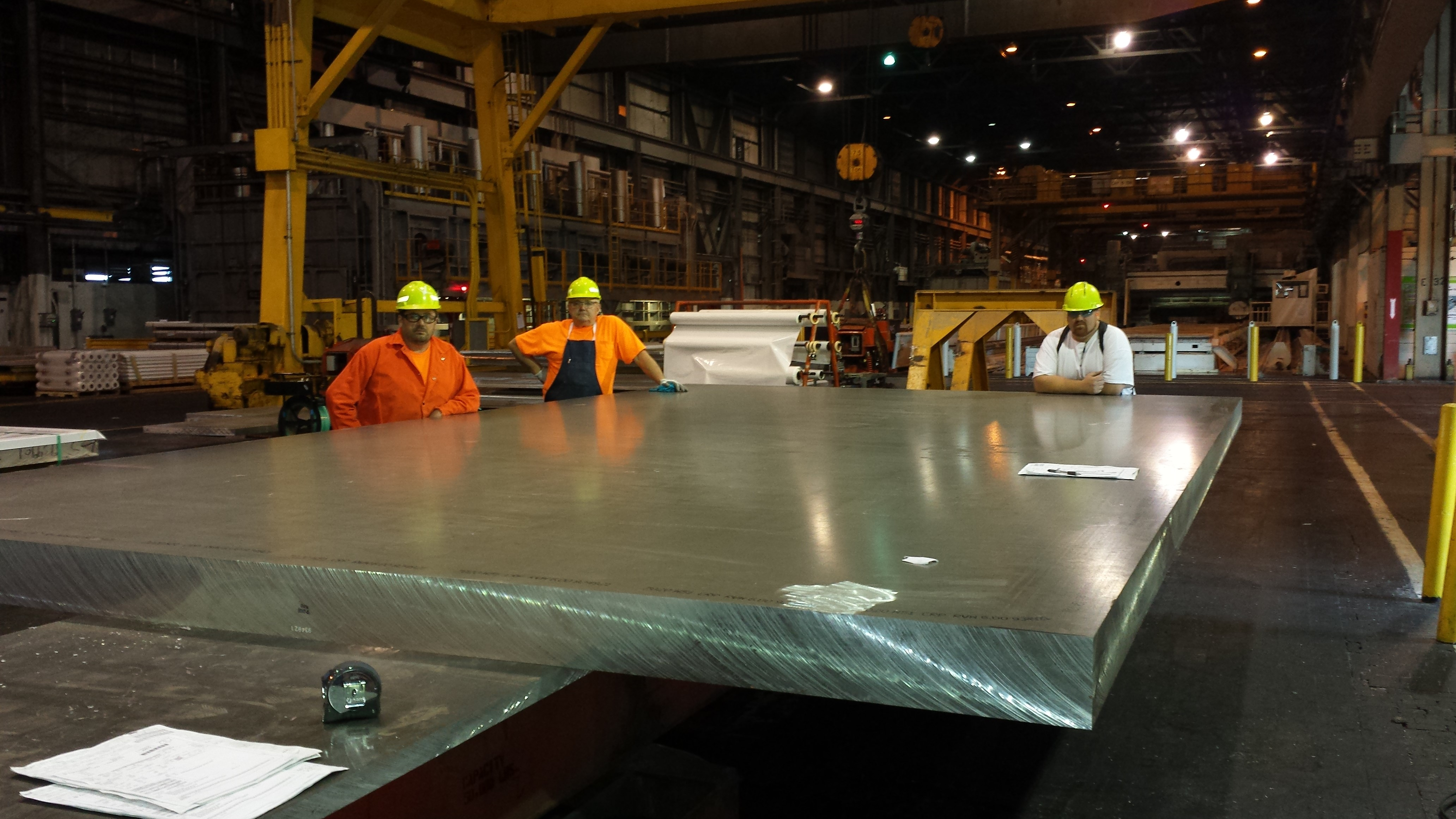 Rolled plate manufactured by Ravenswood's plant
