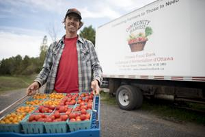 Every year the Ottawa Food Bank grows over 100,000 pounds of fresh vegetables and fruit.