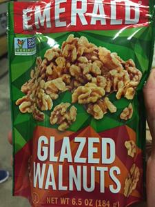 Front of Emerald Glazed Walnuts