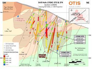 Drill Hole 17OKC-372 & 374