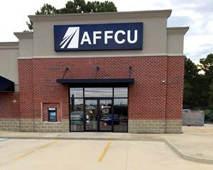 The new AFFCU Columbus, MS branch located at 1908 Highway 45 N, Ste 1.