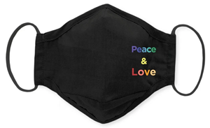 SwaddleDesigns Face Mask featuring Peace & Love is the new Bestseller at SwaddleDesigns.com. With over 100 masks available, SwaddleDesigns founder Lynette Damir, RN, is delighted to see masks with positive messages are the top sellers.