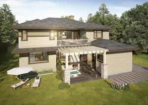 2018 DreamLife Lottery Dream Home - Rear View